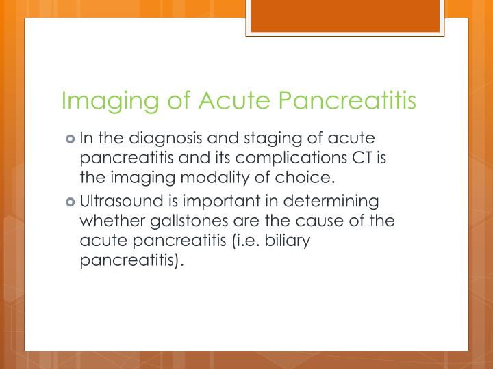 Imaging of Acute Pancreatitis