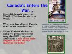 canada s enters the war