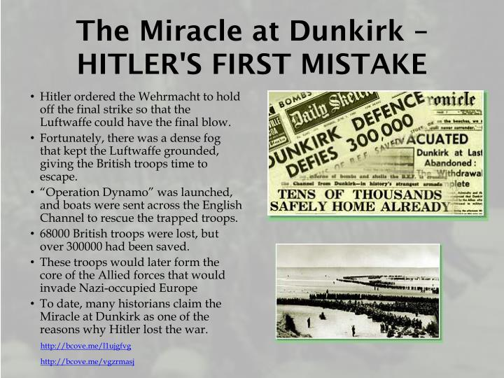 The Miracle at Dunkirk – HITLER'S FIRST MISTAKE