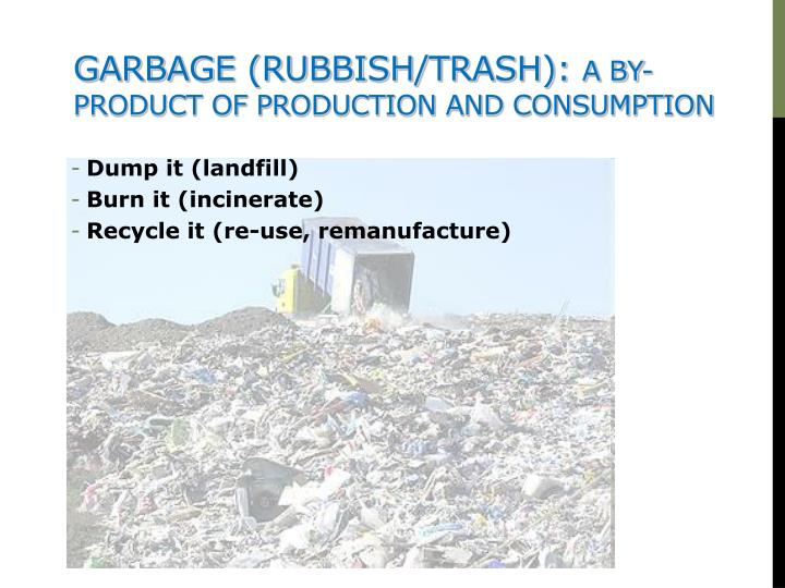 Garbage (rubbish/trash):