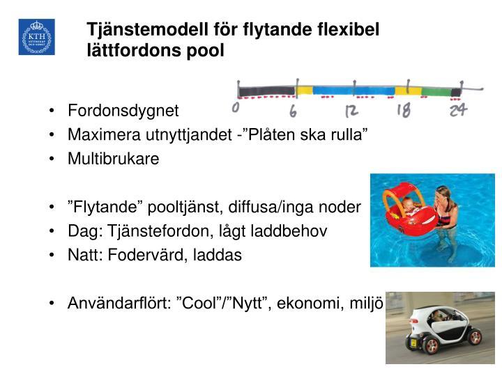 Tjänstemodell för flytande flexibel lättfordons pool