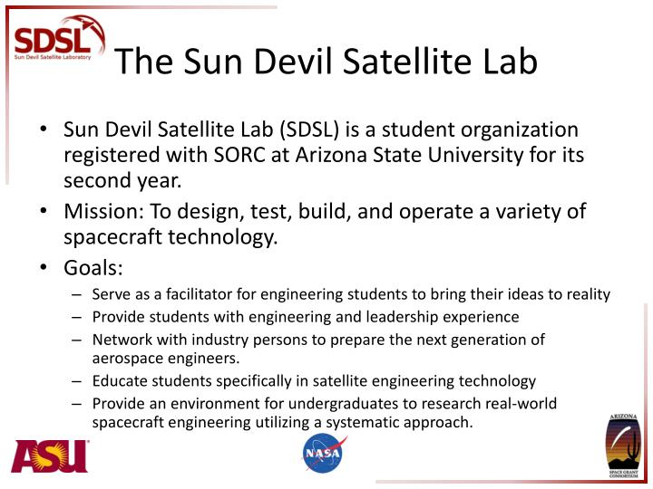 The sun devil satellite lab