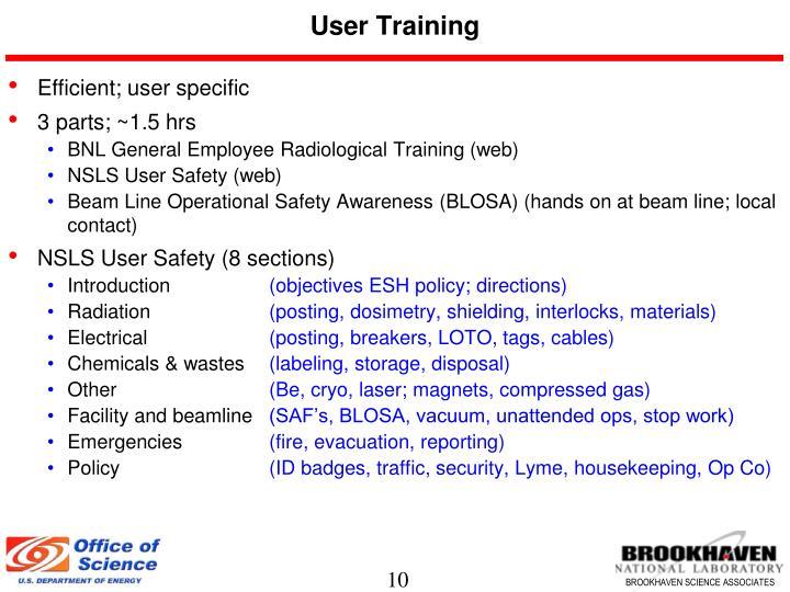 User Training