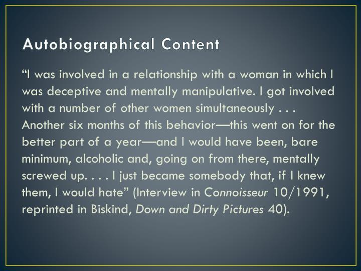 Autobiographical Content