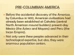 pre columbian america