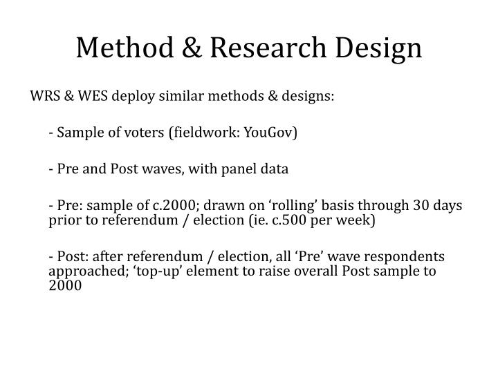 Method & Research Design