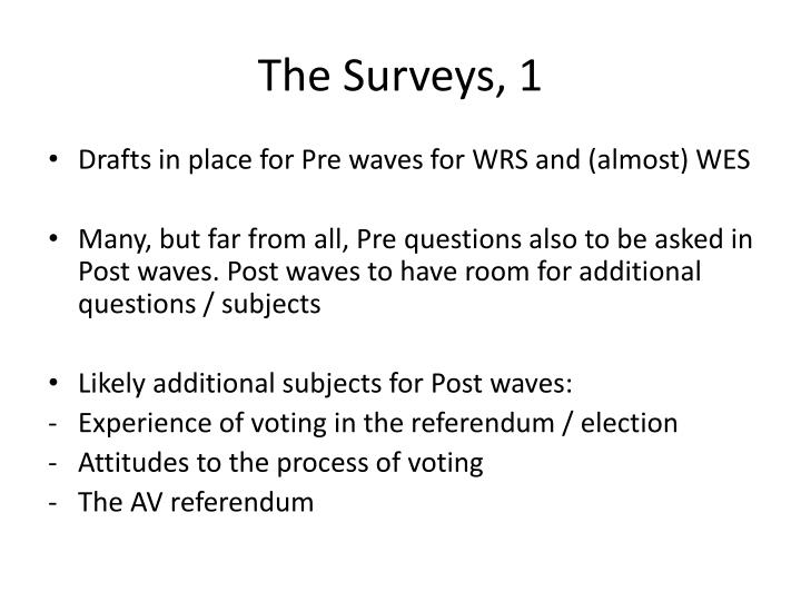 The Surveys, 1