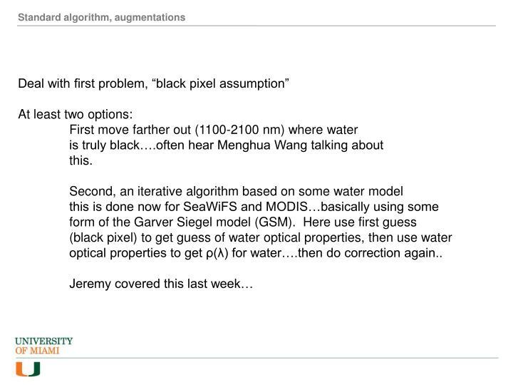Standard algorithm, augmentations