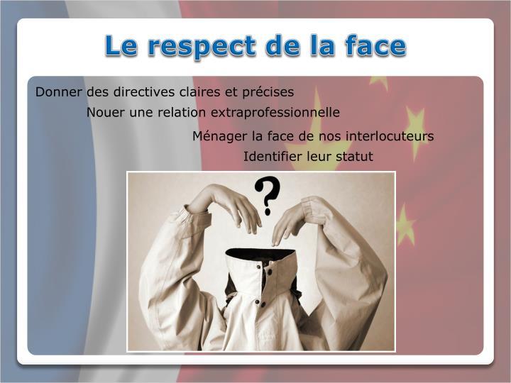 Le respect de la face