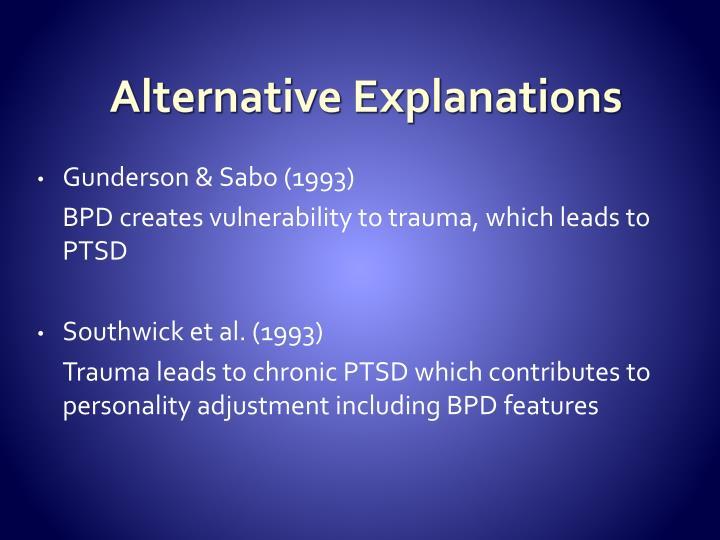 Alternative Explanations