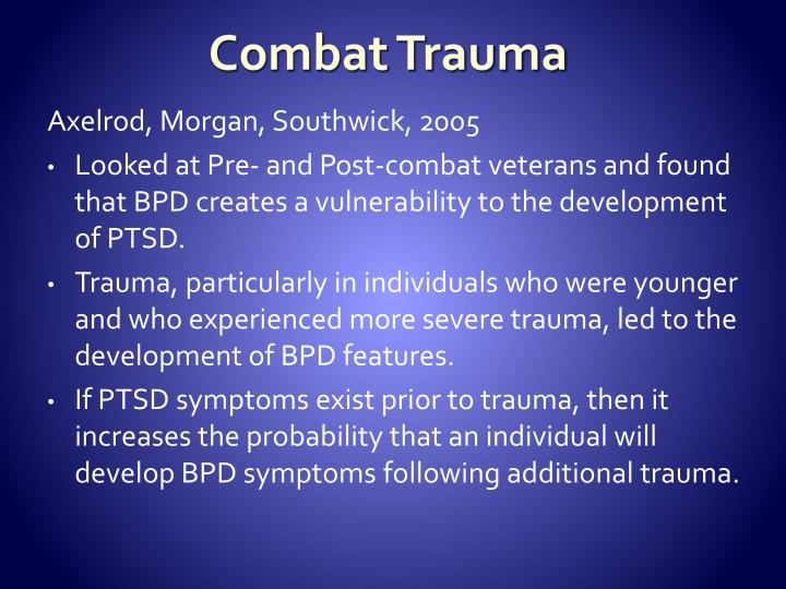 Combat Trauma