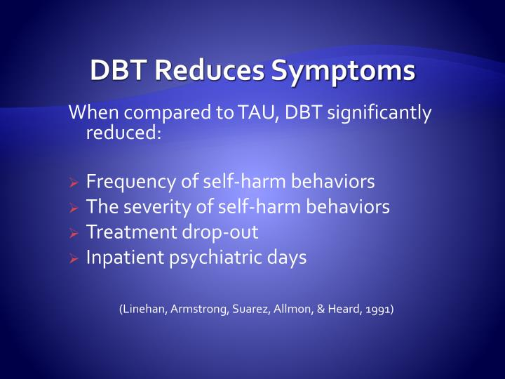 DBT Reduces Symptoms
