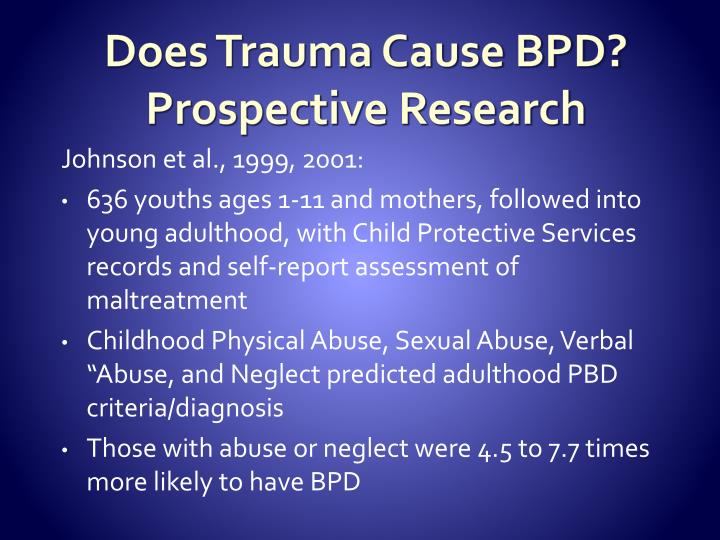 Does Trauma Cause BPD?