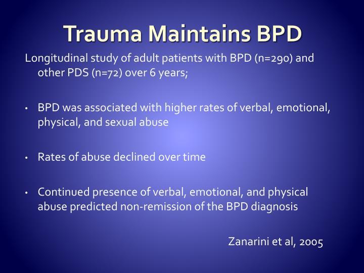 Trauma Maintains BPD