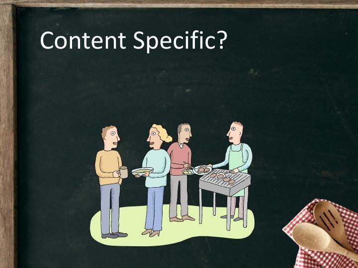 Content Specific?