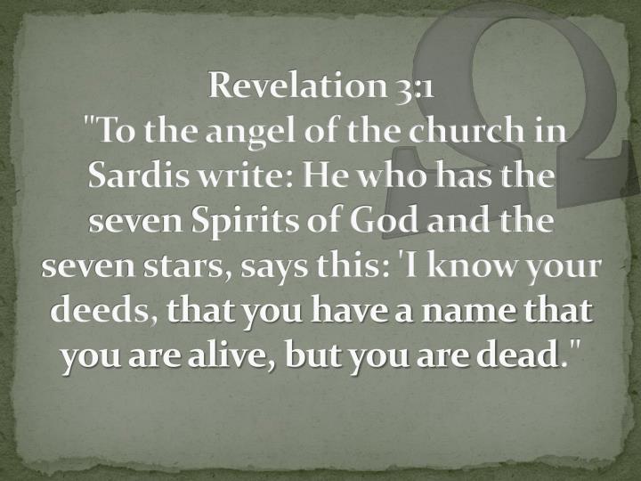 Revelation 3:1