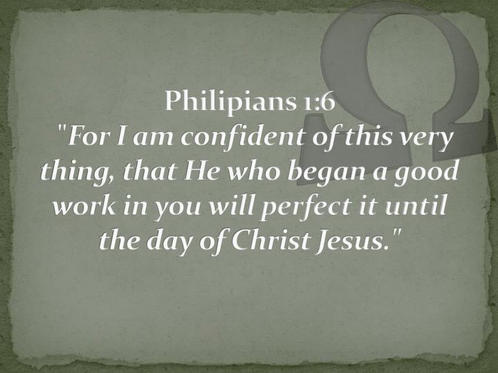 Philipians 1:6