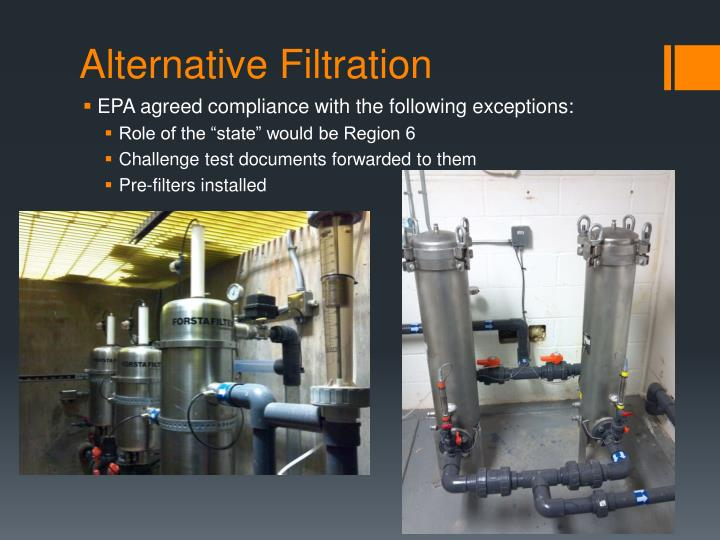 Alternative Filtration