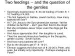 two feedings and the question of the gentiles