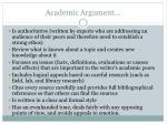 academic argument
