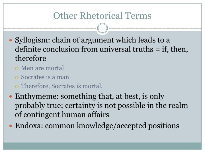 Other Rhetorical Terms