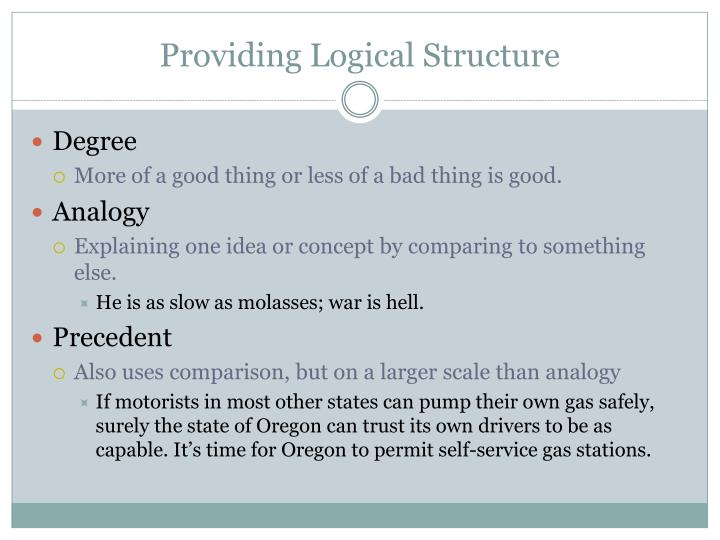 Providing Logical Structure