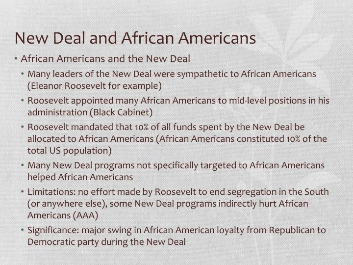 New Deal and African Americans