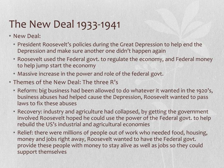 The New Deal 1933-1941