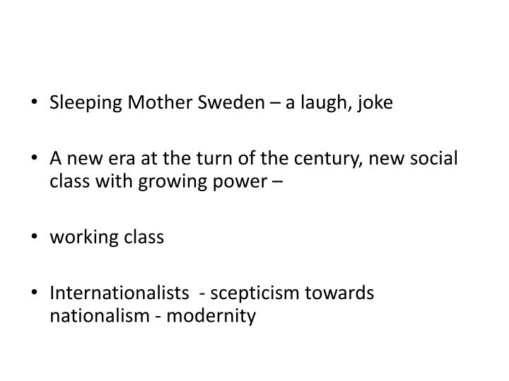 Sleeping Mother Sweden – a laugh, joke