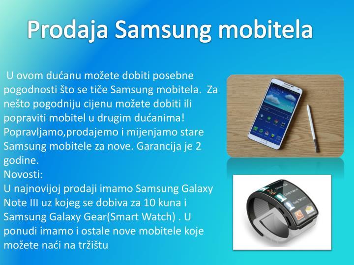 Prodaja Samsung mobitela