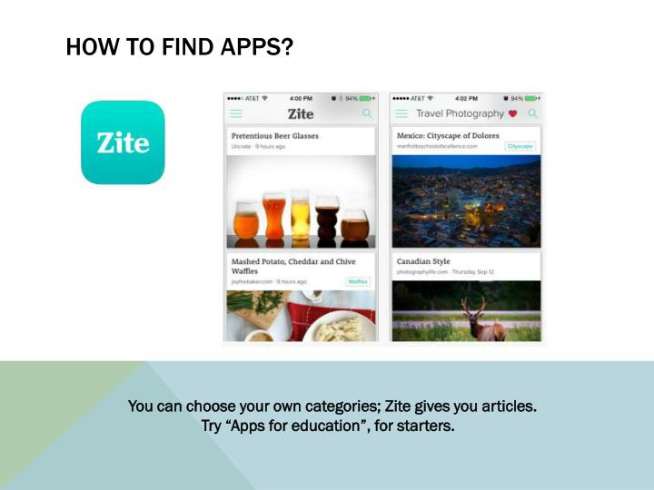 How to find apps?