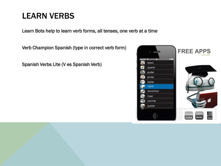 Learn verbs
