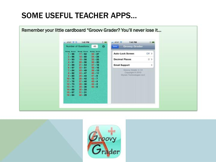 Some useful teacher apps…