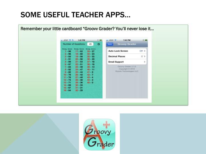 Some useful teacher apps…