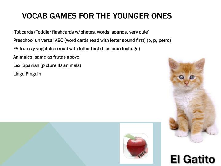 Vocab games for the younger ones