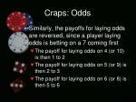 craps odds3