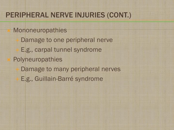 Mononeuropathies