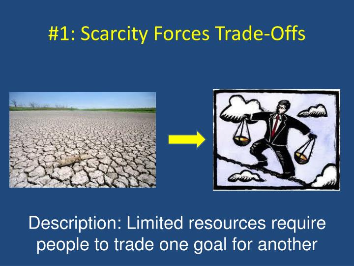 #1: Scarcity Forces Trade-Offs