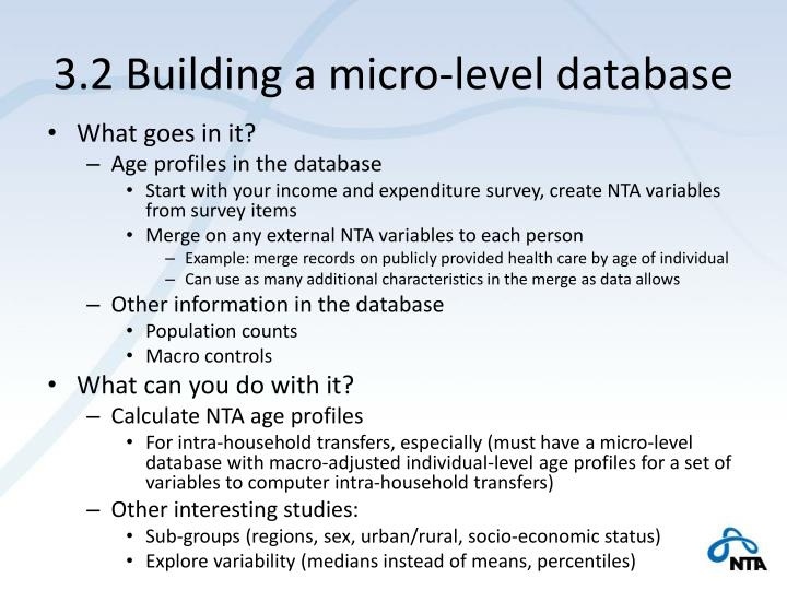 3.2 Building a micro-level database