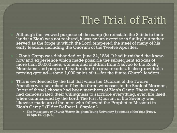 The Trial of Faith