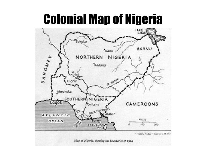 Colonial Map of Nigeria