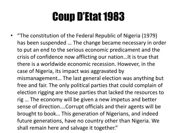 Coup D'Etat 1983