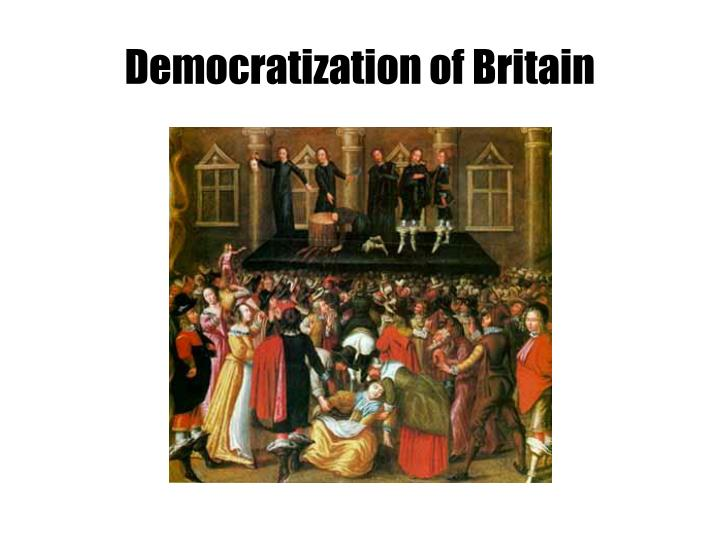 Democratization of Britain