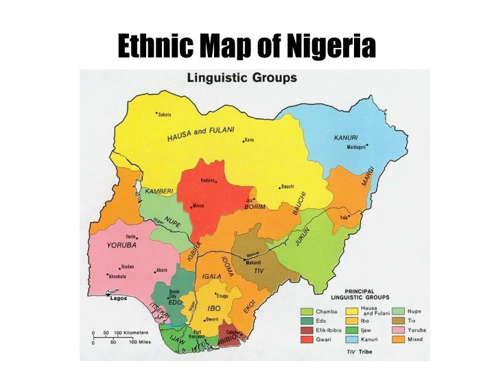 Ethnic Map of Nigeria