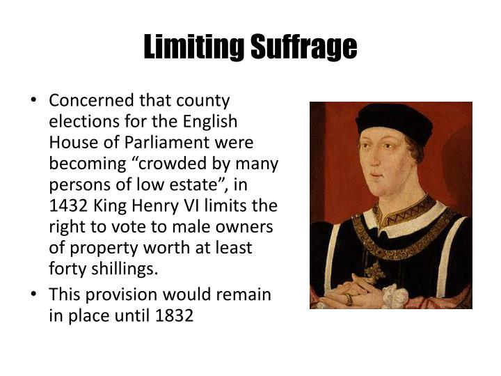 Limiting Suffrage