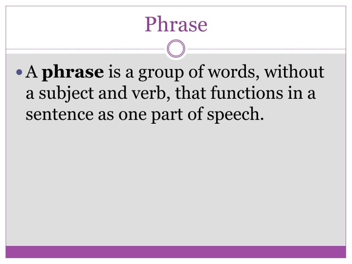 Phrase
