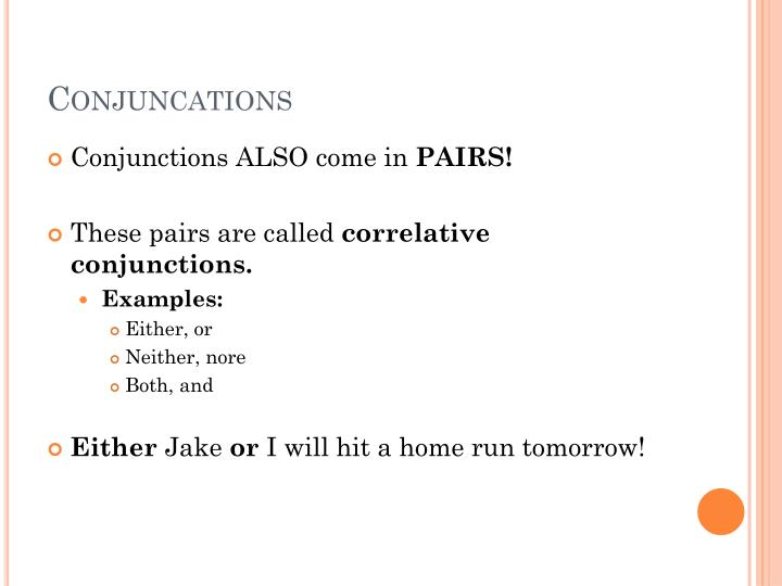 Conjuncations