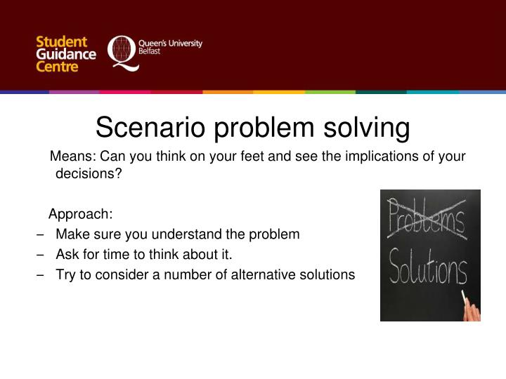 Scenario problem solving