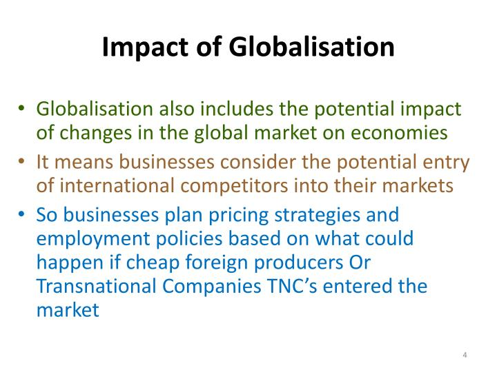 Impact of Globalisation