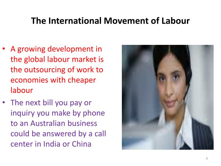 The international movement of labour1